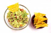 Guacamole and nachos from