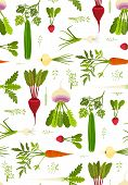 Leafy Vegetables and Greens Seamless Pattern Background