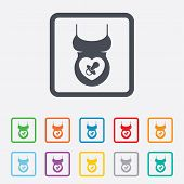 Pregnant woman shirt sign icon. Maternity symbol