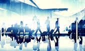stock photo of terminator  - Business People Travel Corporate Airport Passenger Terminal Concept - JPG