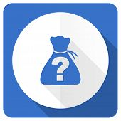 pic of riddles  - riddle blue flat icon   - JPG