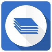stock photo of gage  - layers blue flat icon gages sign  - JPG