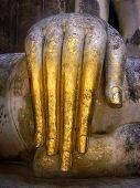 pic of chums  - The hand of Pra Ajana at Wat Si Chum Sukhothai Historical Park Thailand - JPG