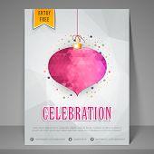 stock photo of bachelor party  - Stylish night party celebration flyer - JPG