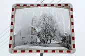 picture of bohemia  - Winter landscape reflecting in the convex mirror in Central Bohemia - JPG