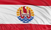 pic of french polynesia  - 3D French Polynesia flag with fabric surface texture - JPG