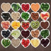 picture of fruit bowl  - Super food for beauty detox health diet on white porcelain bowls - JPG