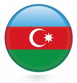Постер, плакат: Azerbaijan flag button