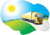 Truck - transport and logistics
