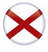 foto of alabama  - Alabama flag button on a white background - JPG