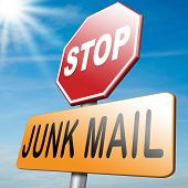 pic of spam  - stop junk mail and spam before too late - JPG