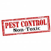 stock photo of non-toxic  - Grunge rubber stamp with text Pest Control - JPG