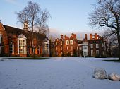 Newnham College Hall in winter