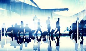 pic of cabin crew  - Business People Travel Corporate Airport Passenger Terminal Concept - JPG