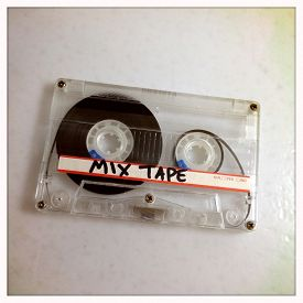 stock photo of outdated  - Instagram filtered image of a mix tape cassette  - JPG