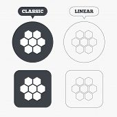 picture of honeycomb  - Honeycomb sign icon - JPG