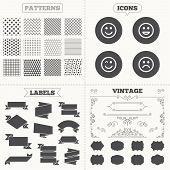 stock photo of lol  - Seamless patterns - JPG