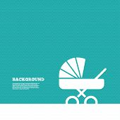 Постер, плакат: Baby pram stroller sign icon Baby buggy symbol