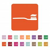 foto of toothpaste  - The toothbrush icon - JPG