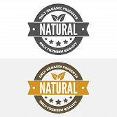 Set of vintage logo, label, badge, logotype elements for organic, natural companies, corporates, cos poster