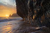 foto of crimea  - Rock from the sea - JPG