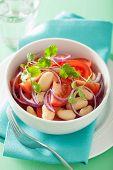picture of cilantro  - healthy tomato salad with white beans onion cilantro - JPG