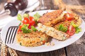 stock photo of quinoa  - quinoa galette - JPG