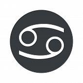 stock photo of cancer horoscope icon  - Image of Cancer zodiac symbol in black circle - JPG