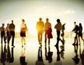 foto of pedestrians  - Business People Commuter Corporate Cityscape Pedestrian Concept - JPG