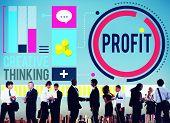 stock photo of revenue  - Profit Revenue Income Improvement Growth Success Concept - JPG