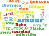 picture of amour  - Background concept wordcloud multilanguage international many language illustration of amour - JPG