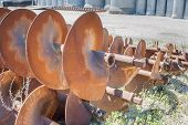 foto of auger  - Augers for drilling of the ground for laying drain pipes - JPG