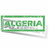 pic of algeria  - Green stamp with name Algeria and shadow - JPG
