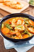 image of tamarind  - hot and sour curry with tamarind sauce - JPG