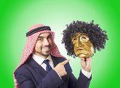 image of arab man  - Arab man hypocrisy concept - JPG