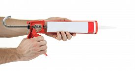 picture of freemasons  - caulking gun  in front of a white background - JPG