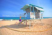 Lifeguard Station On A Beach