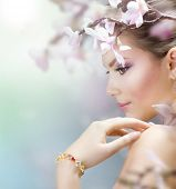 foto of beautiful face  - Spring Beauty - JPG