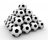 Soccer ball pyramid