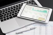 Business Analytic With Tablet Pc poster