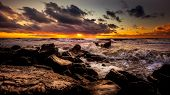 Sunset. Beautiful Sunset Black Sea. Gold Sea Sunset. Picture Sea Sunset. Sea Sunset Background. Amaz poster