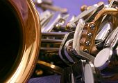 Close Up Of An Alto Saxophone