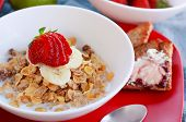 Cereal with Strawberry and Banana