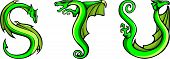 Dragons alphabet: S,T,U