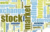 Stock Market Terminology Background as a Art