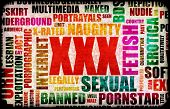 XXX Sex Industry Concept Grunge Background