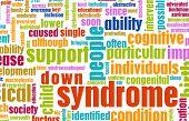 Condição de síndrome de Down como pano de fundo de conceito