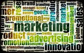 stock photo of mass media  - Marketing Background as Art with Related Terms - JPG
