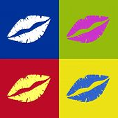 Lipstick Kiss Retro