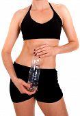 passen Sie Körper mit einer Wasser-Flasche